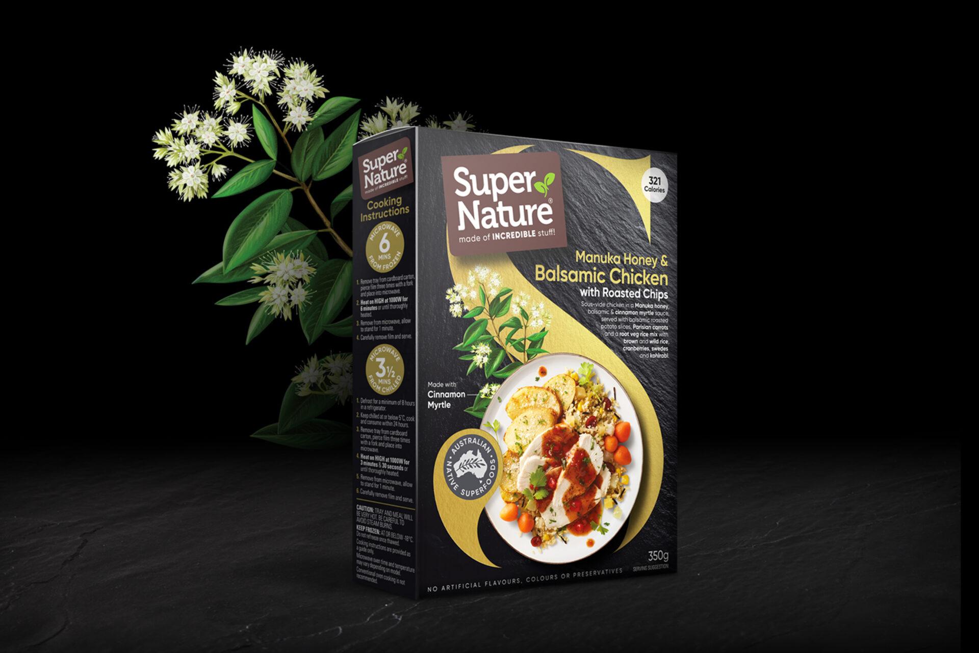 Packaging Design Super Nature Manuka Honey & Balsamic Chicken